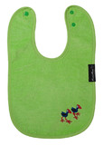 Mum 2 Mum Kiwiana Wonder Bib (Embroidered) - Lime Pukeko