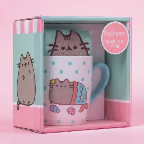 Pusheen the Cat Socks in a Mug - Mermaid image