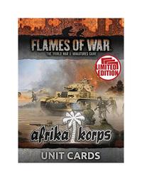 Flames of War: Afrika Korps Unit Cards (Ltd Run)