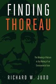Finding Thoreau by Richard W. Judd image