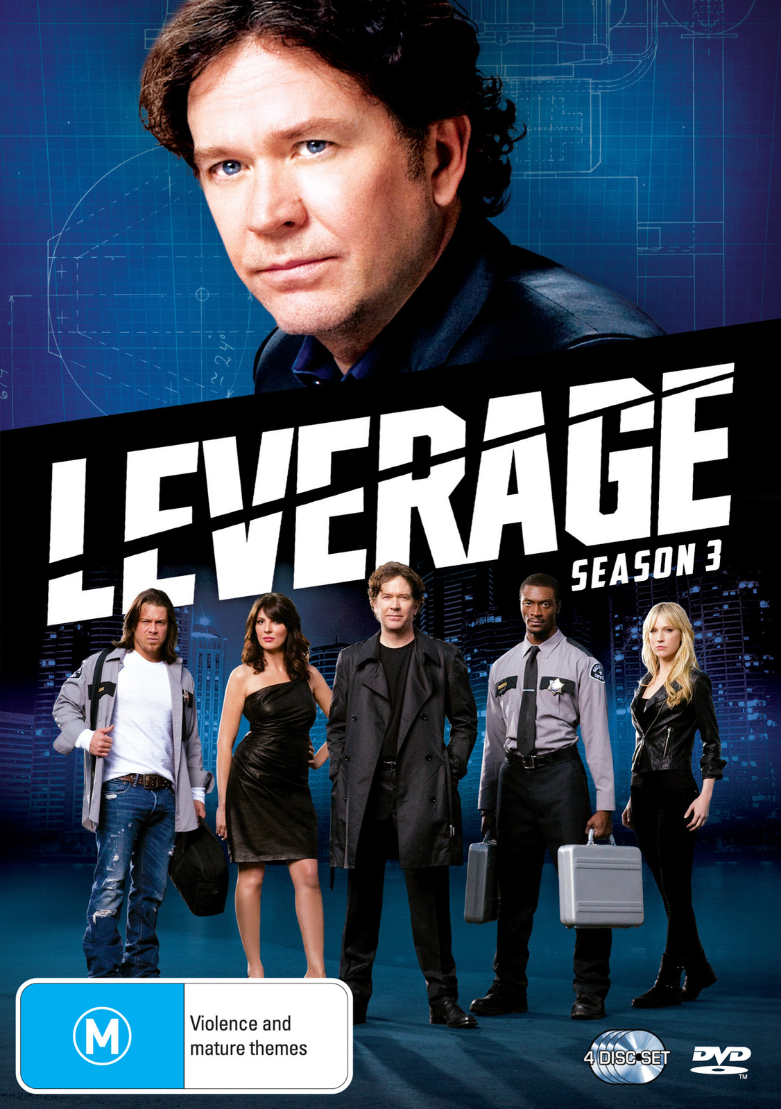 Leverage - Season 3 (4 Disc Set) on DVD image