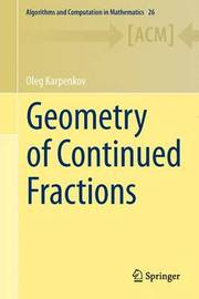 Geometry of Continued Fractions by Oleg Karpenkov
