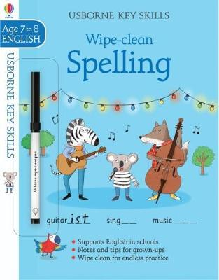 Wipe-clean Spelling 7-8 by Jane Bingham image