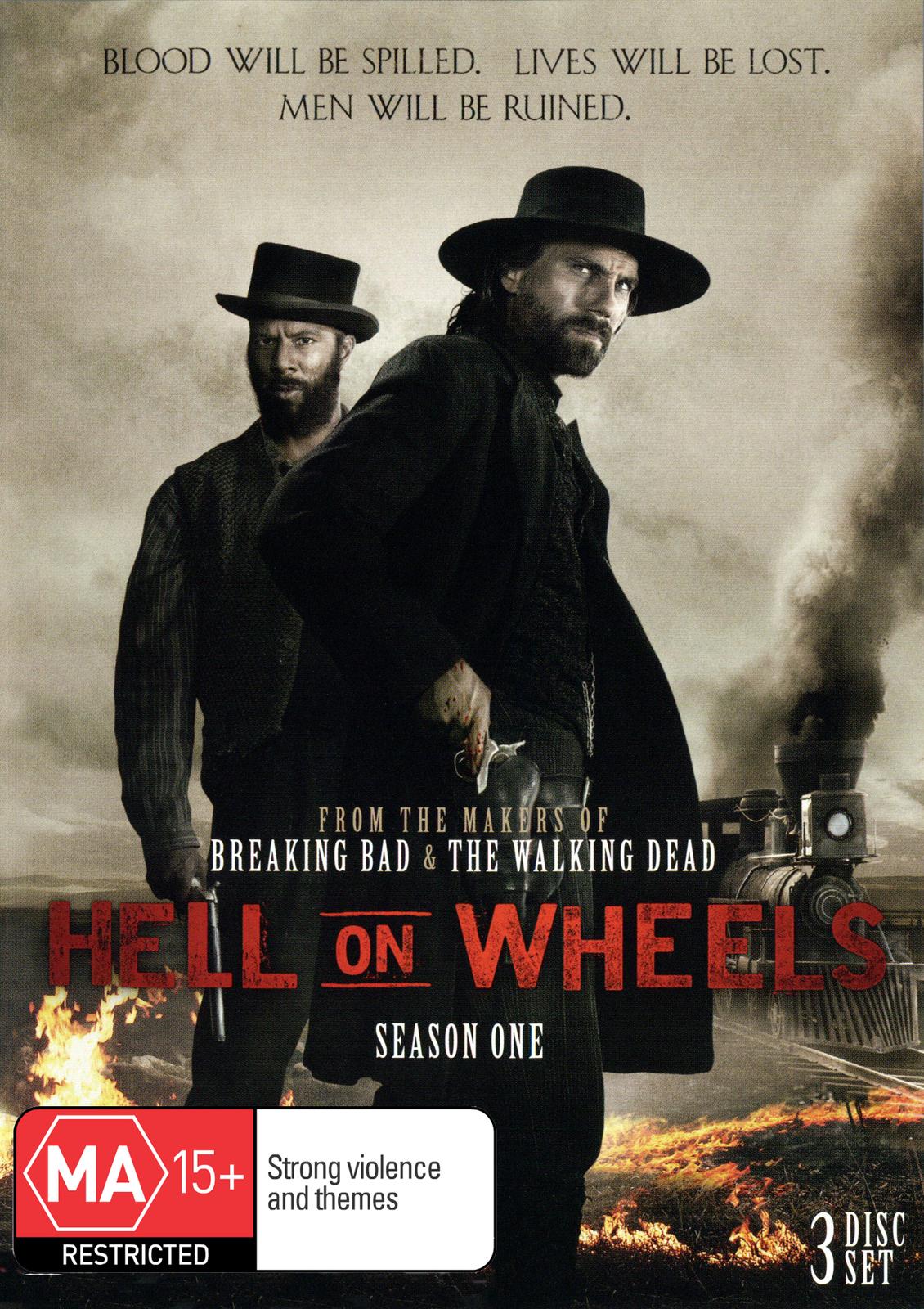 Hell on Wheels - Season One (3DVD) on DVD image
