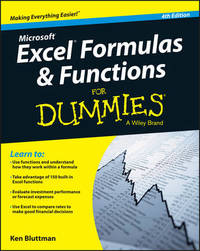 Excel Formulas and Functions For Dummies by Ken Bluttman image