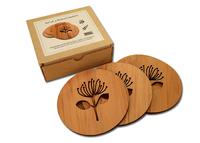 Rimu Pohutukawa Coasters - Set of 4
