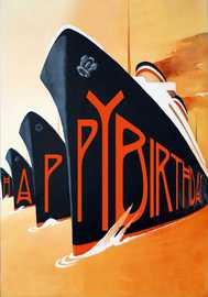 Madam Treacle: Four Ships Birthday Card image