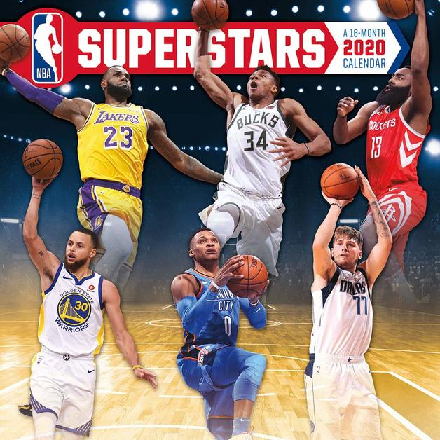 NBA Superstars 2020 Square Wall Calendar