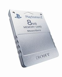 Sony PlayStation 2 (8MB) Memory Card - Silver for PlayStation 2 image