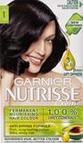 Garnier Nutrisse Permanent Nourishing Hair Colour - 1.0 Licorice Black