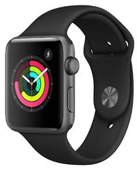 Apple Watch Series 3 GPS with Black Sport Band - Space Grey Aluminium Case (42mm)