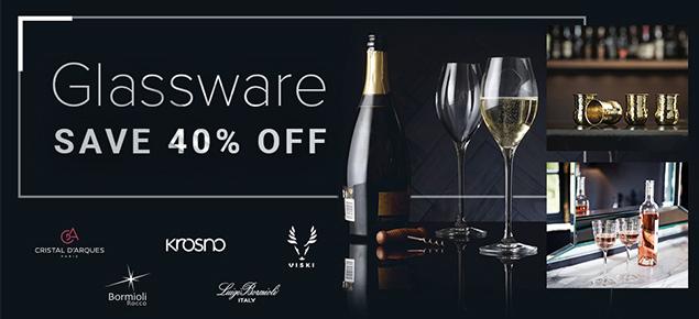40% off Glassware!