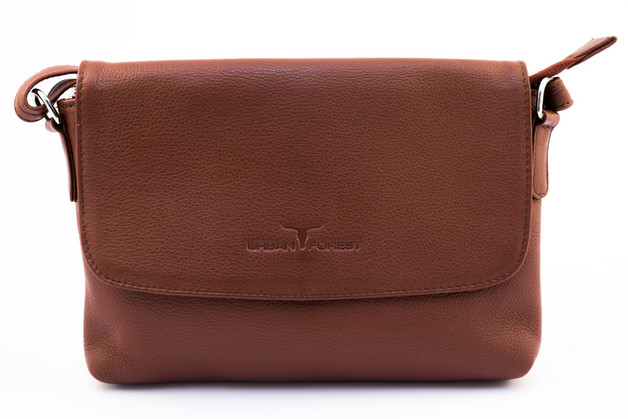 Urban Forest: Rosa Small Leather Handbag - Redwood
