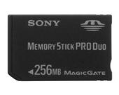 Sony Memory Stick PRO DUO 256MB MSXM256
