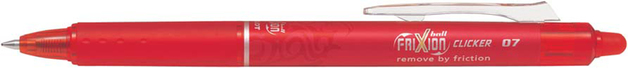 Pilot FriXion Clicker Gel Pen Red