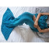 Mermaid Tail Throw - Aqua