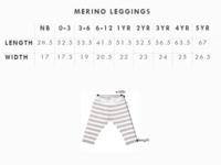 Babu: Merino Footless Leggings - Grey Stripe (4 Years) image