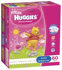Huggies Nappies: Jumbo Pack - Junior Girl 16kg+ (60)