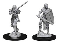 D&D Nolzur's Marvelous: Unpainted Miniatures - Female Human Fighter image