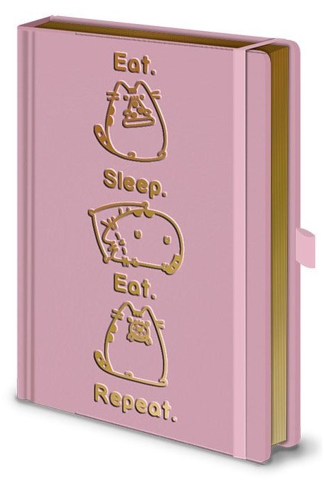 Pusheen: A5 Premium Notebook - Eat. Sleep. Eat. Repeat.