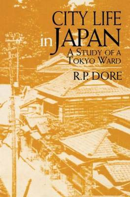 City Life in Japan by Ron P. Dore image