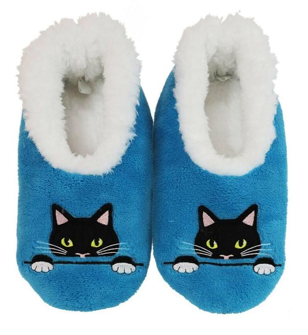 Slumbies Peek-A-Boo Cat Pairables Slippers (L)