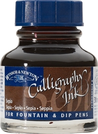 Winsor & Newton: Calligraphy Ink - Sepia 609 (30ml)