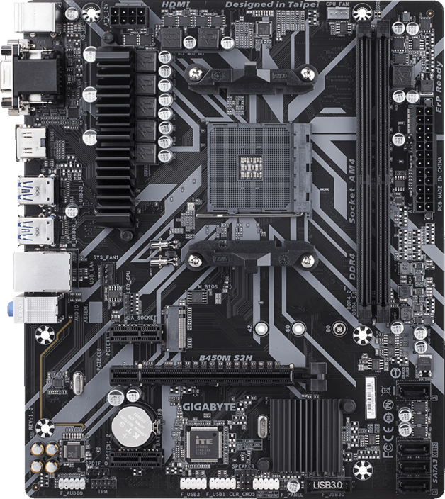 Gigabyte B450M S2H AMD Motherboard