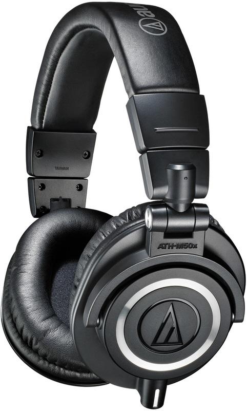 Audio-Technica ATH-M50X Studio Monitors Headphones - Black