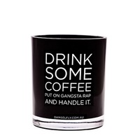 Drink Some Coffee Candle (Large, Black)