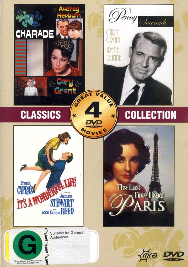 Classics Collection (Charade/It's A Wonderful Life/Last Time I Saw Paris/Penny Serenade) (2 Disc) on DVD image