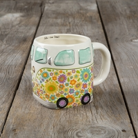 Natural Life: Ceramic Folk Mug - Follow Heart