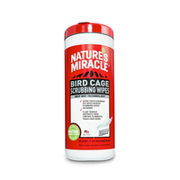 Natures Miracle: Bird Cage Scrubbing Wipes 30's