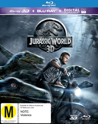 Jurassic World on Blu-ray, 3D Blu-ray