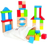 Hape: Maple Wood Blocks - 50pc Set