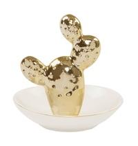 Gold Opuntia Cactus - Trinket Dish