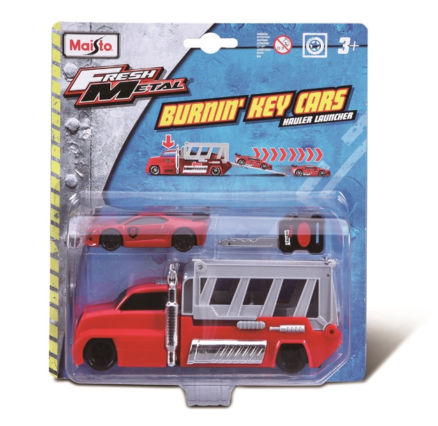 Maisto: Burnin' Key Cars - Hauler Launcher Set (Assorted Designs)
