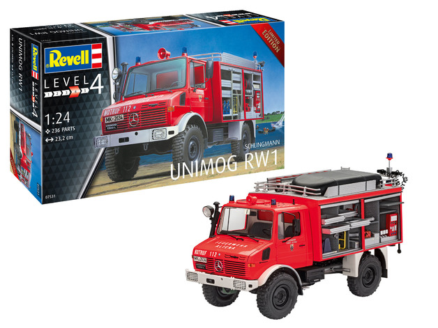 Revell: Schlingmann Unimog RW1 - 1:24 Scale Model Kit