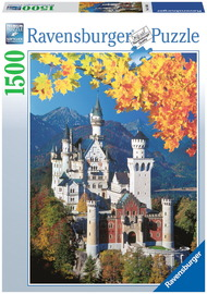 Ravensburger 1500 Piece Jigsaw Puzzle - Neuschwanstein Castle in Autumn