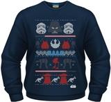 Star Wars Dark Side Fair Isle Men's Crew Neck Sweatshirt (Small)
