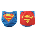 Bumkins DC Comics Snap in One Nappy with Cape - Blue Superman