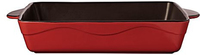Casa Domani Pyrosafe Square Baker 26x6.5cm Gift Boxed Red