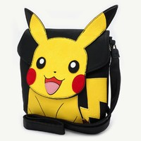 Loungefly Pokemon Pikachu Face Crossbody Bag image