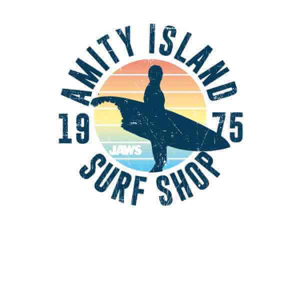 Jaws: Amity Surf Shop T-Shirt - White/XX-Large image