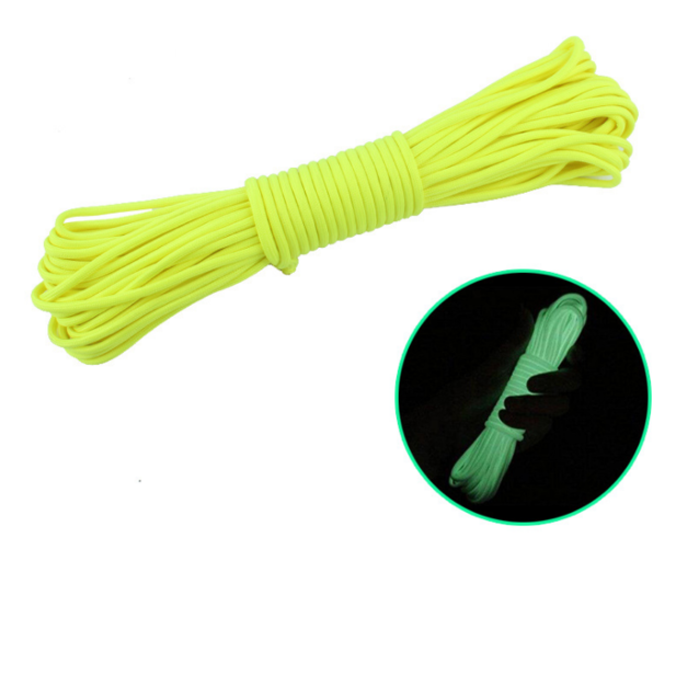 Outdoor Luminous Glow Camping Tent Rope 20M - Yellow