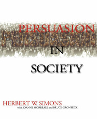 Persuasion in Society by Herbert W Simons image