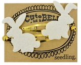 Seedling: Cute as a Bell Felt Hair Clips - Rabbits