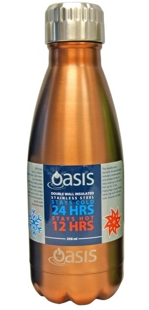 Oasis Insulated Stainless Steel Water Bottle - Copper (350ml) image 80977e1b86b5