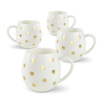 Robert Gordon: Hug Me Mug Set (White and Gold Spot) image