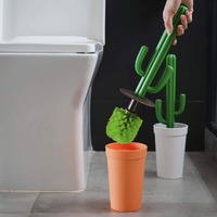 Qualy Cacbrush Toilet Brush (Orange/Green)